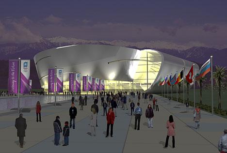 (图)2014年俄罗斯索契冬奥会场馆设计图新鲜出炉