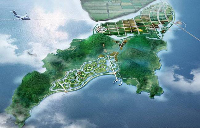 园林景观效果图(一)景观鸟瞰图