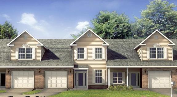 别墅外观设计效果图精选[32P]山在建筑设计图片