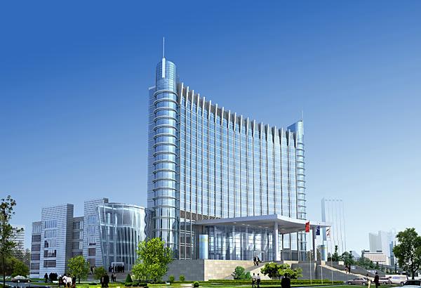 酒店建筑外观效果图