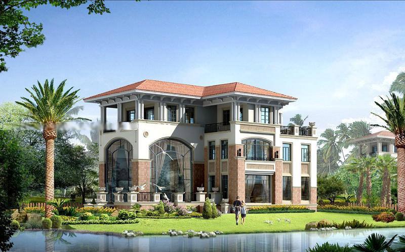 欧式别墅外观效果图--建筑新作--深圳建设网