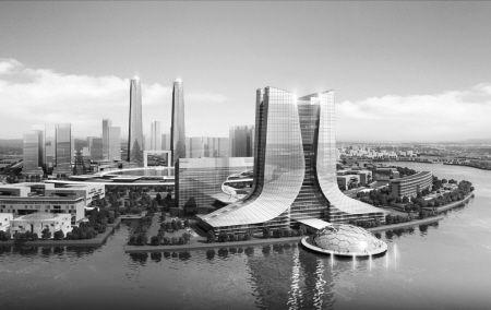 据介绍,国际会展中心选址在实验区岚城组团南侧半岛,面积约92.4公顷.