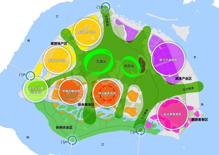 本次规划范围包括:琅岐全岛范围总用地面积约92平方公里,其中陆域59