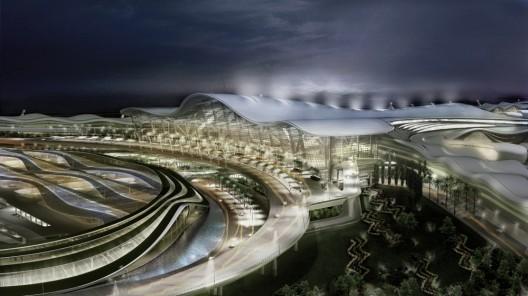 这是刚刚通过的阿布扎比国际机场设计方案,由KPF建筑事务所设计,项目将被看成是通向城市的一道大门,设计创造出巨大的毫无阻挡的内部空间,它提升了旅客的体验,还能适用于长期的工业需求。设计包含一个独特工程加工的巨大跨度拱形结构,它支撑着上部的屋顶,最高处可达五十米。而室内的候机厅开放空旷,保证了室外景观与室内活动的有效融合。机场的建设将有效推动城市的新世纪发展,同时也能推动国家未来的经济发展与增长。