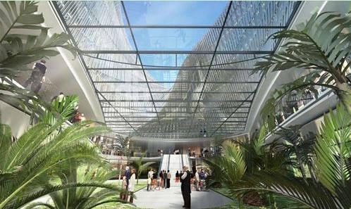 这块基地之前是一个飞机场,后经改造成为台中市水湳生态区的城市
