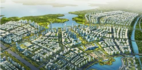华艺规划公司中标 咸嘉临港新城两个功能区城市设计 项目 高清图片
