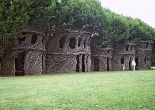 用树木动物房子画一幅画
