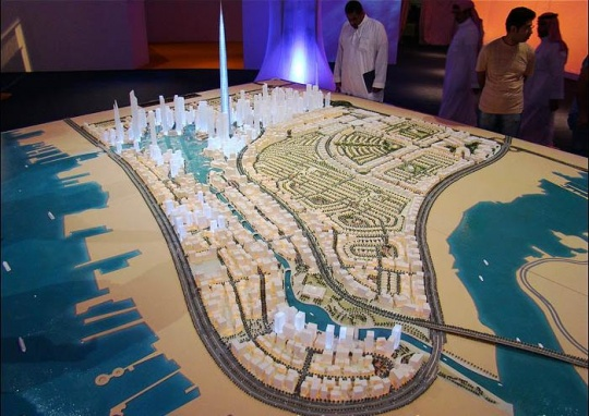 这座塔的制作是一项宏大的都会项目,未来围绕王国塔将兴修新城区