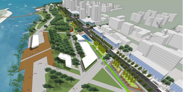 灯光系统,室外家具,公共艺术,公共设施等各项设计内容,红线内道路景观