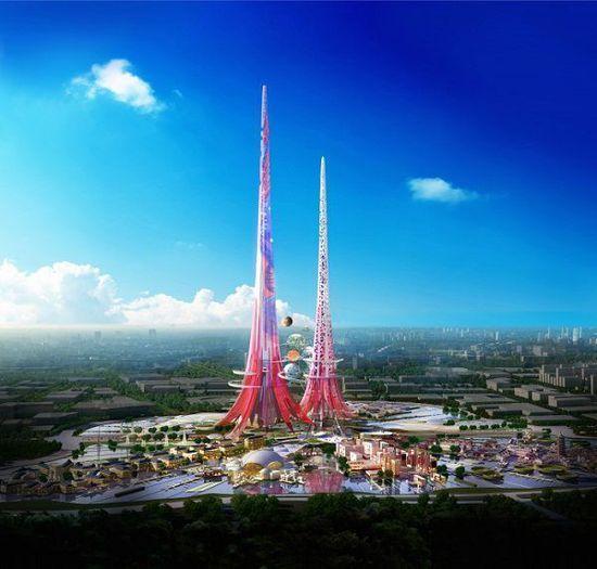 """武汉将建""""世界最高""""1000m双子塔"""