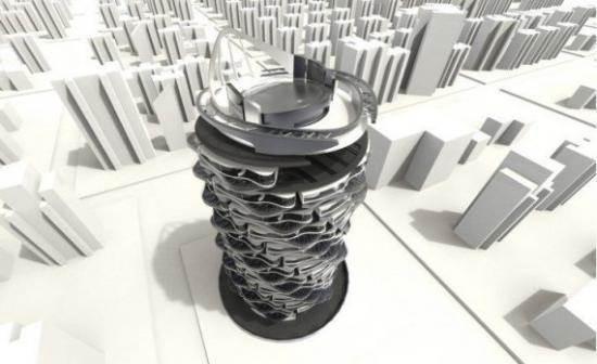 工业设计师跨界做建筑设计:螺旋式公寓楼