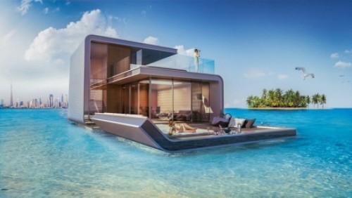 迪拜的奢华半水下别墅