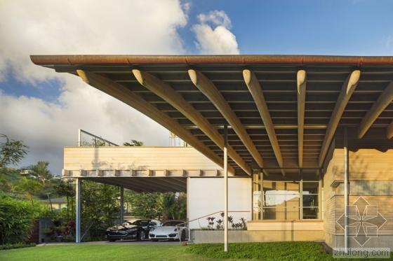 夏威夷火奴鲁鲁岛上住宅外部实景-夏威夷火奴鲁鲁岛上住宅第3张图片