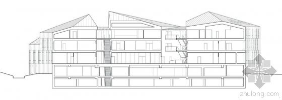 比利时布卢政厅剖面图-比利时布卢政厅第16张图片