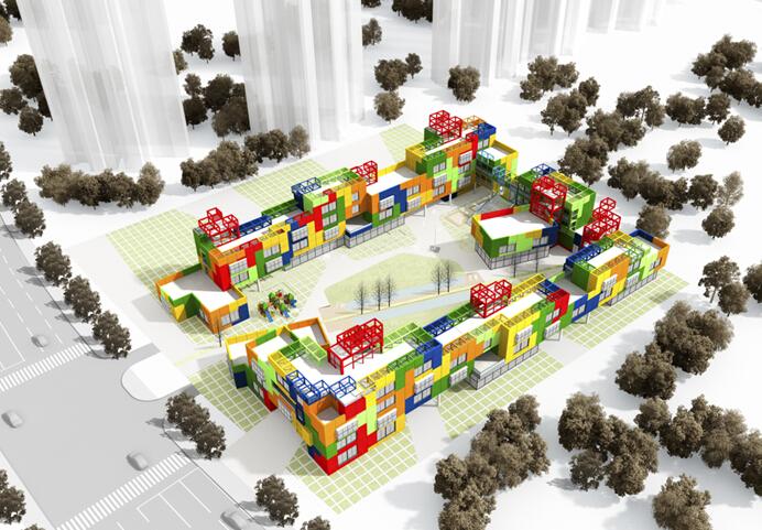"""华艺设计""""成都市高新消防西侧幼儿园""""方案中标图片"""