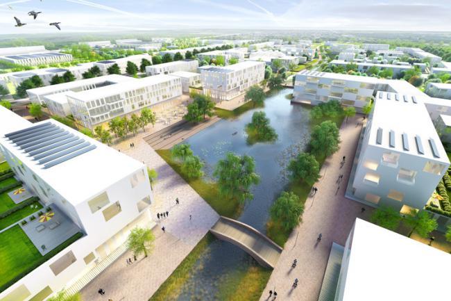 设计将包含2200间公寓,10万平方米的小型工业区与将近20万平方米的