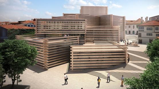 据报道,隈研吾建筑事务所最近公布了一个土耳其现代艺术博物馆的设计方案。这个位于一个前木材市场的博物馆,将由板条木材组成。  隈研吾建筑事务所设计的这个奥顿帕扎里现代艺术博物馆(Odunpazari Modern Art Museum),位于土耳其西北部的大学城Eskishehr,它将收藏大量的土耳其现代艺术品。  隈研吾建筑事务所的设计的这个项目是,由不规则堆砌的盒子组成一幢建筑,如此,使建筑物向中央增加高度。  这样做的目的,是回应周围的传统的土耳其木材民居。它们经常是上层稍微伸出。 水平木板将覆盖每