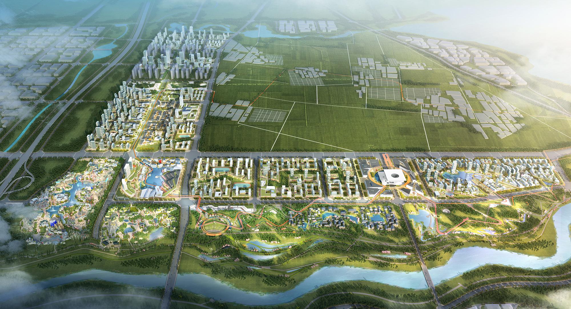 深规院中标《沣东华侨城城市设计国际咨询竞赛》图片