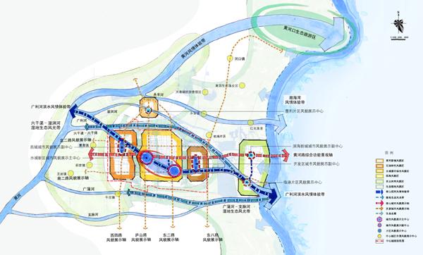 项目规模 480平方公里 启动时间 2009年6月 委托单位 东营市规划局 合作单位 东营市城市规划设计研究院 东营市是国家和山东省发展黄河三角洲高效生态经济的前沿与主战场。2008年,东营市政府提出全力打造黄河水城品牌,着力提升东营城市形象的城市发展目标。在这一背景下开展的黄河水城总体城市设计是与城市总体规划相辅相成的纲领性文件,是指导水城规划设计和建设实施的重要抓手,其主要任务在于塑造城市特色、完善城市结构、优化空间环境、指引建设活动。我司秉承行动规划的理念,围绕黄河水城这一主题,以严谨