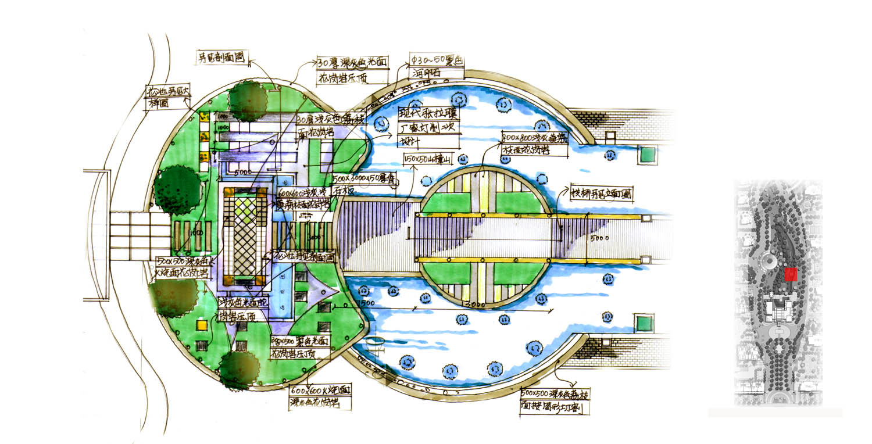 主入口水景平面图