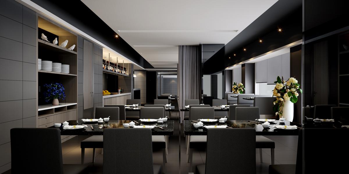 龙华西餐厅大厅效果图