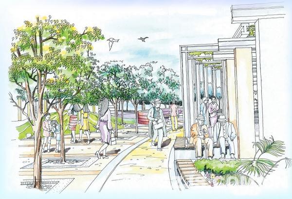 理田设计—06庭院景观效果图