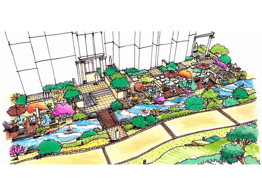 欧式小区景观图; 组团景观_植物组团景观,别墅组团景观图片; 小区组团