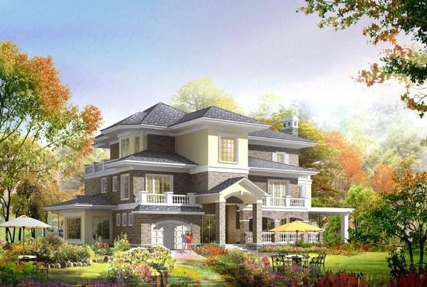 单层别墅建筑设计图