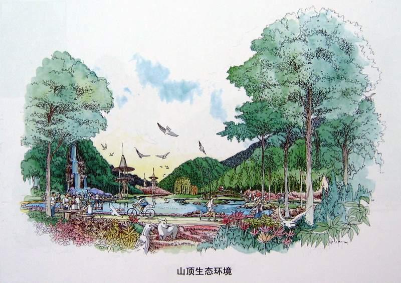 山顶平面图手绘