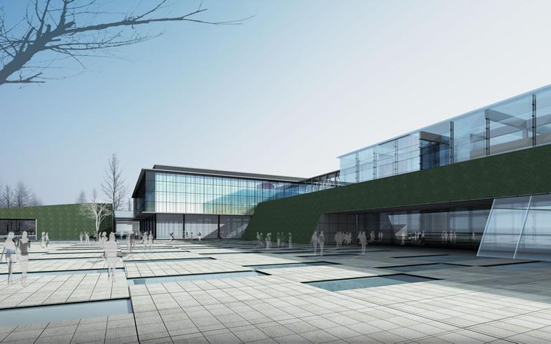 未来城市铅笔画透视